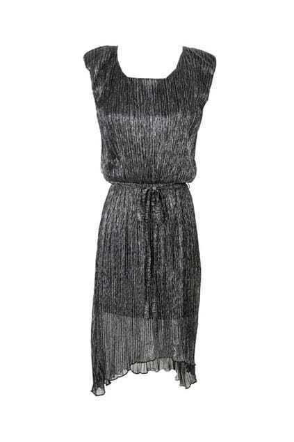 Sweety Controlled Waist Oversized Black Dress