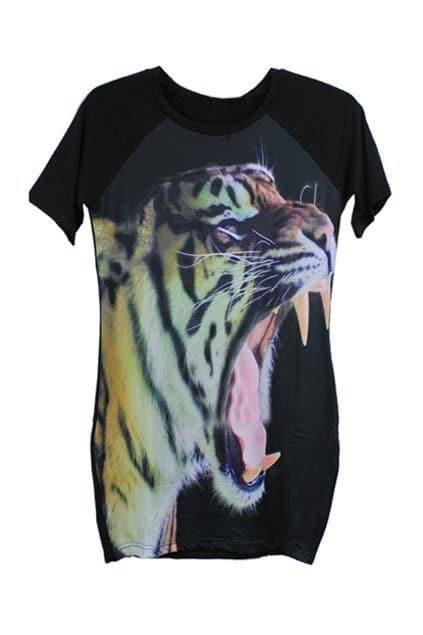 Elasticated Tiger Printed Dress