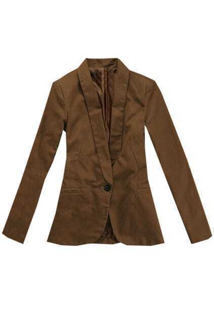 Shawl Collar Coffee Blazer