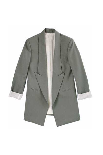 Brief Style Grey Blazer