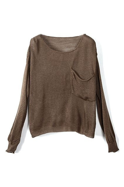 Puff Sleeves Coffee Jumpers