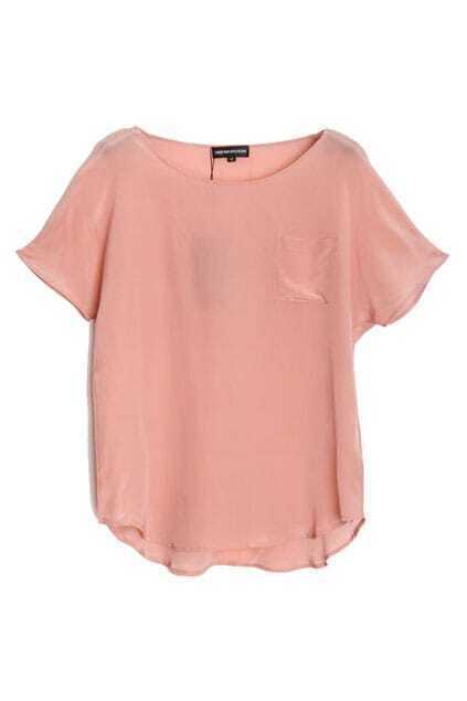Oversized Nude Pink Silk T-shirt