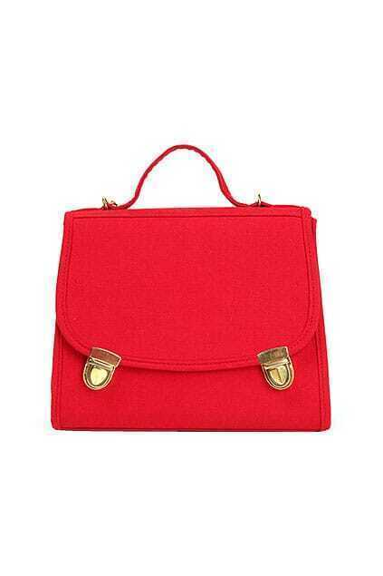 Fitted Hidden Pocket Red Aslant Bag