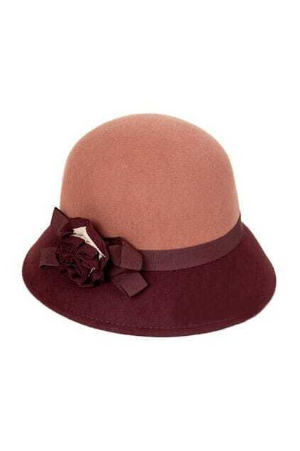 Fitted Flower Brown Bowler