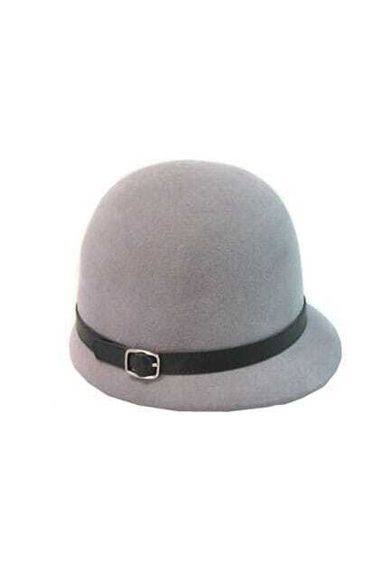 Fitted Belt Dome Grey Bowler