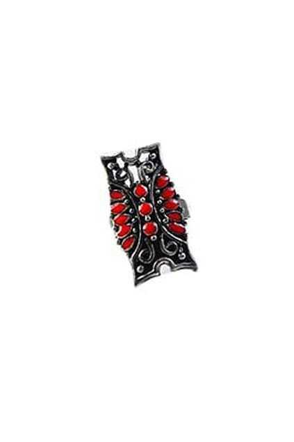 Classic Pattern Red Stone Ring