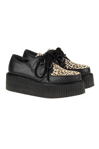 Leopard Horsehair Platform Shoes
