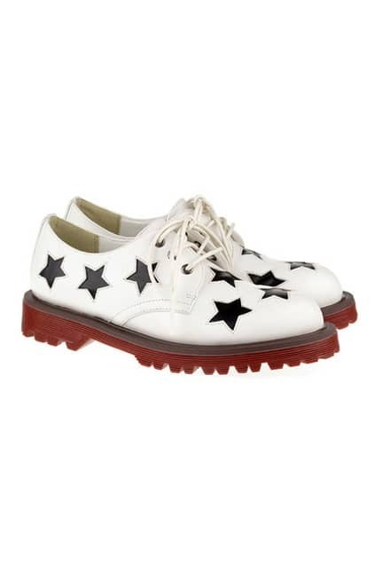 Contrast Stars White Martin Shoes