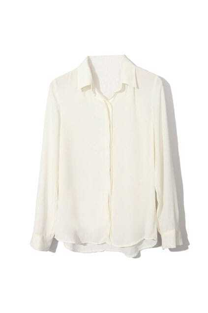 Basic Style Vertical White Shirt