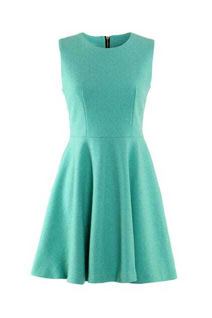 Green Woolen Tank Dress