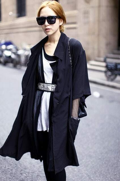 Wild Fitted Pockets Black Mesh Cardigan