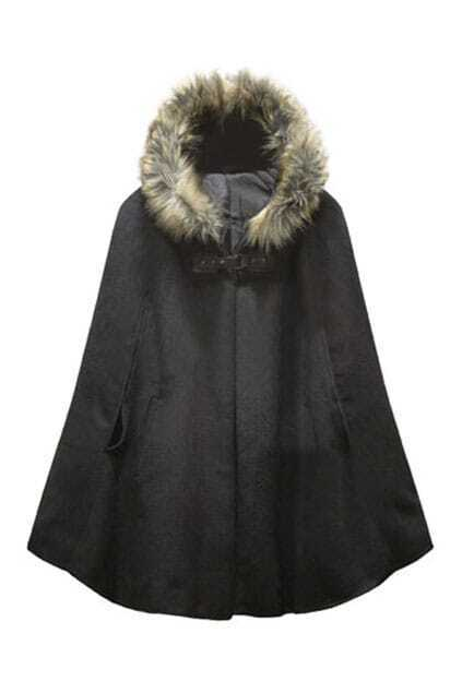 Fitted Big Hasp Black Cape