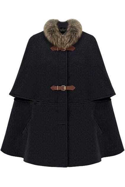 Fitted Big Hasps Black Cape