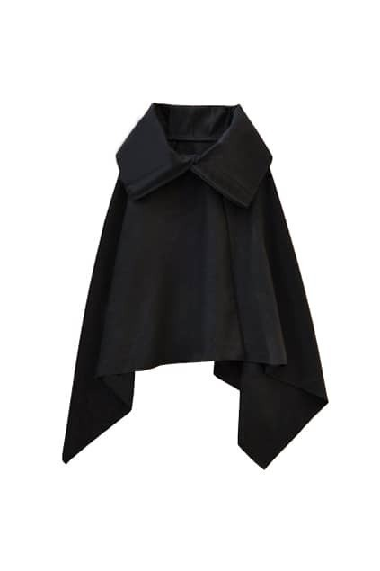 Loose Big Lapel Black Coat
