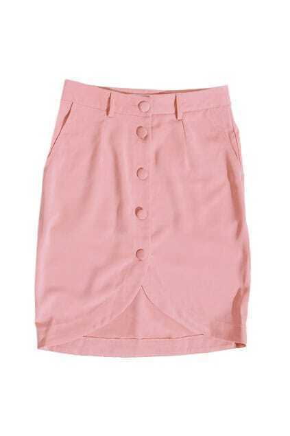 Stereo Bud Tailored Pink Skirt