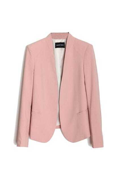 Plain Design Pink Suit