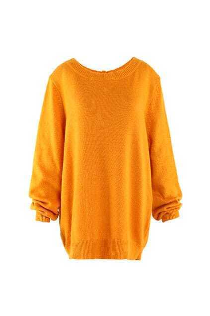 Brief Style Back Buttons Yellow Jumpers