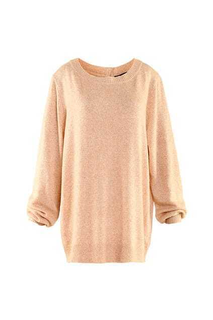 Brief Style Back Buttons Apricot Jumpers