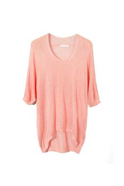Loose Medium Sleeve Pink Jumpers