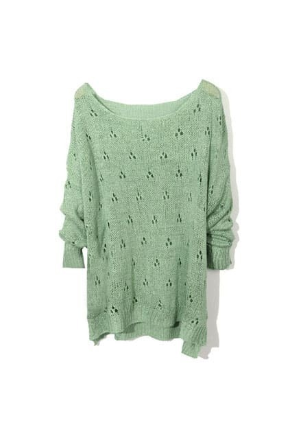 Plum Blossom Fitted Green Jumpers