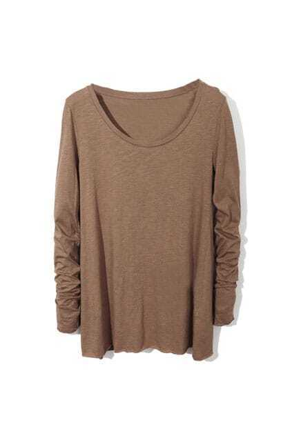 Simple Basic Style Coffee T-shirt