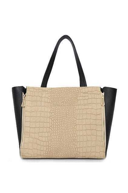 Double Zips Textured Single Shoulder Bag