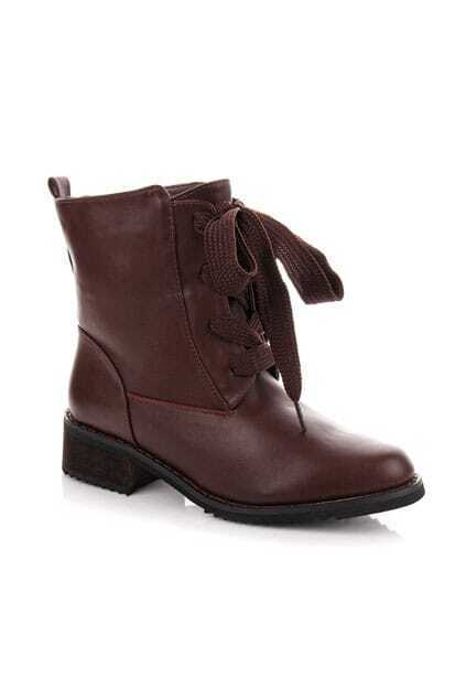 Crossed Lacing Fitted Khaki Boots