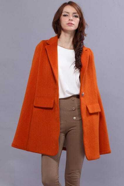 Top Woolen Orange Cape