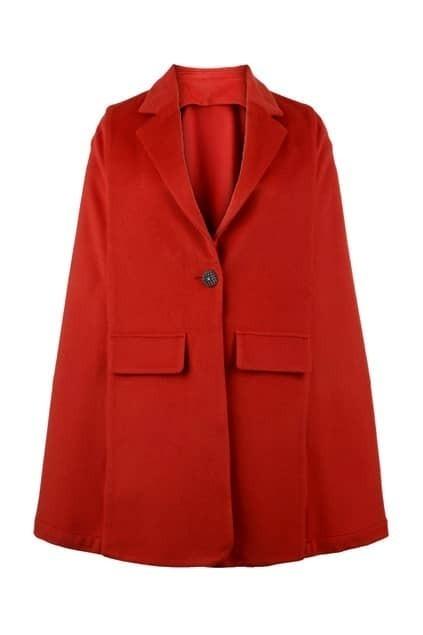 Top Woolen Brick-red Cape