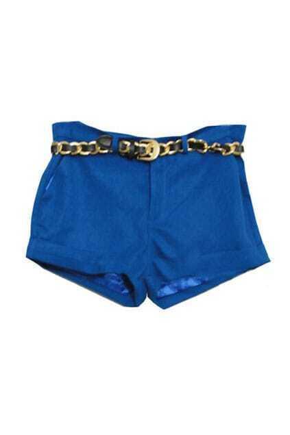 Plain Pure Blue Shorts