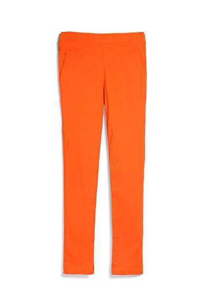 Elastic Orange Pencil Pants