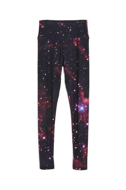Star Skying Print Leggings