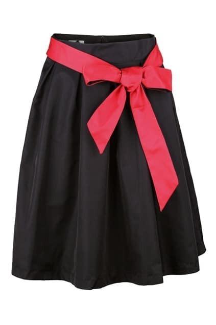 Contrast Bowknot Black Skirt