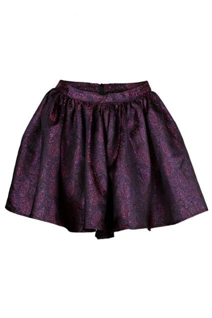 Retro Purple Puff Skirt