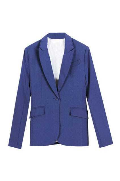 Single Button Slim Blue Blazer