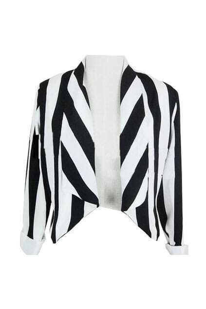 White-Black Striped Suit