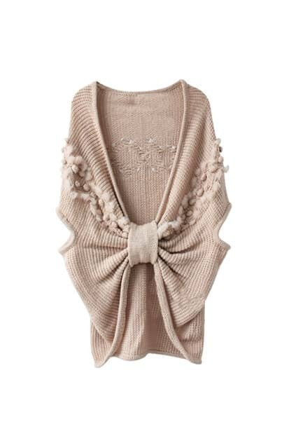 Bowknot Pink Caped Jumpers