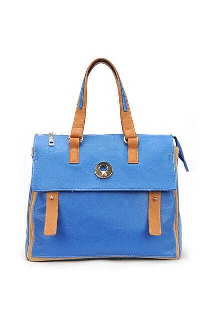 Retro Style Blue Handheld Bag