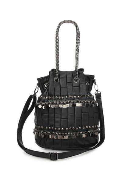 Punk Style Rivet Scale Black Bag
