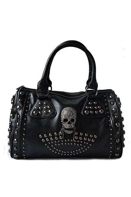 Punk Style Retro Black Bag
