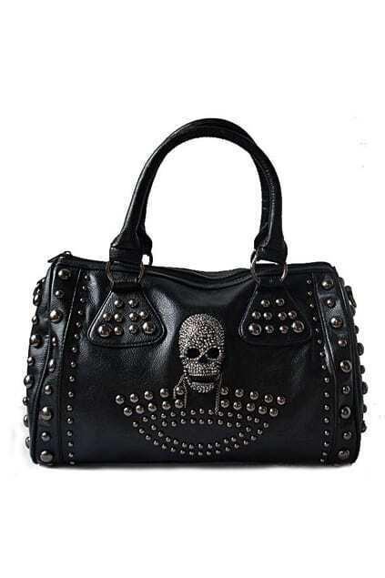 Punk Style Retro Black Bag