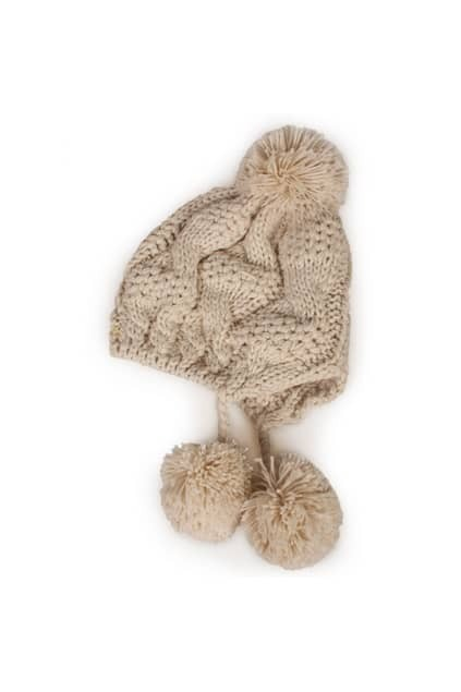 Retro Weave Fitted Balls Cream Hat