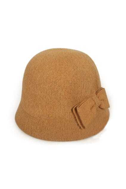 Fitted Bowknot Little Hem Giner Hat