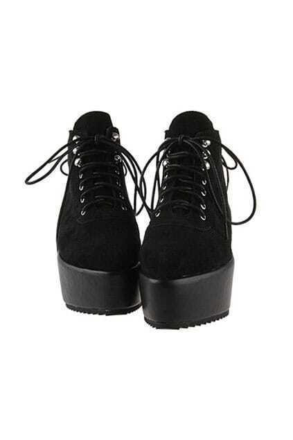 Platform Black Short Boots