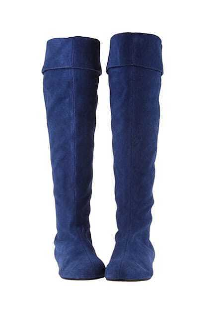 Double Way Blue High Boots