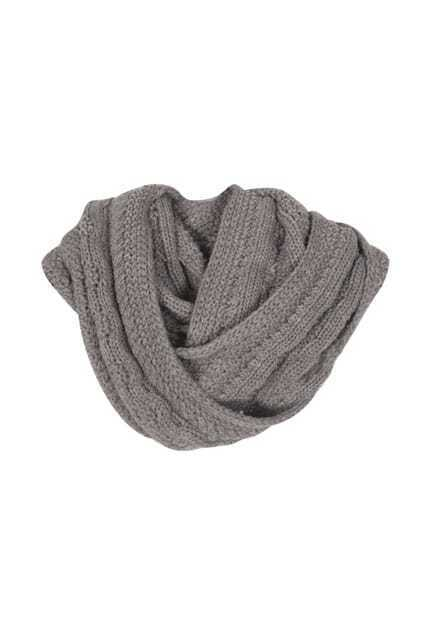 Twist Knit Snood Grey Scarf