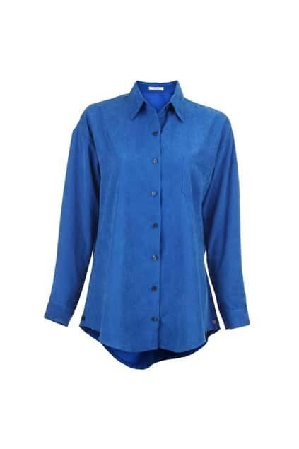 Peach Skin Blue Shirt