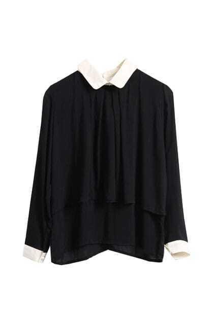 Classic Cotton Black Blouse
