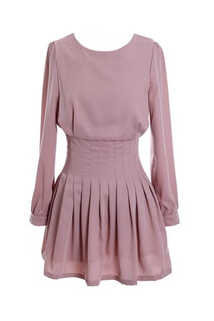 Brief Style Pink Dress