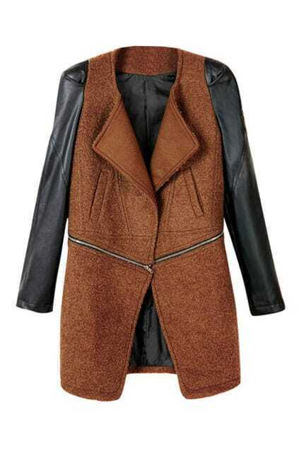 Oversized Longline Cut Orange Coat